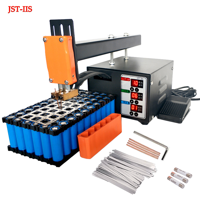 JST-IIS Spot Welder 3KW High Power 18650 Spot Welding Machine Lithium Batteries Pack Nickel Strip Welding Precision Pulse Welder