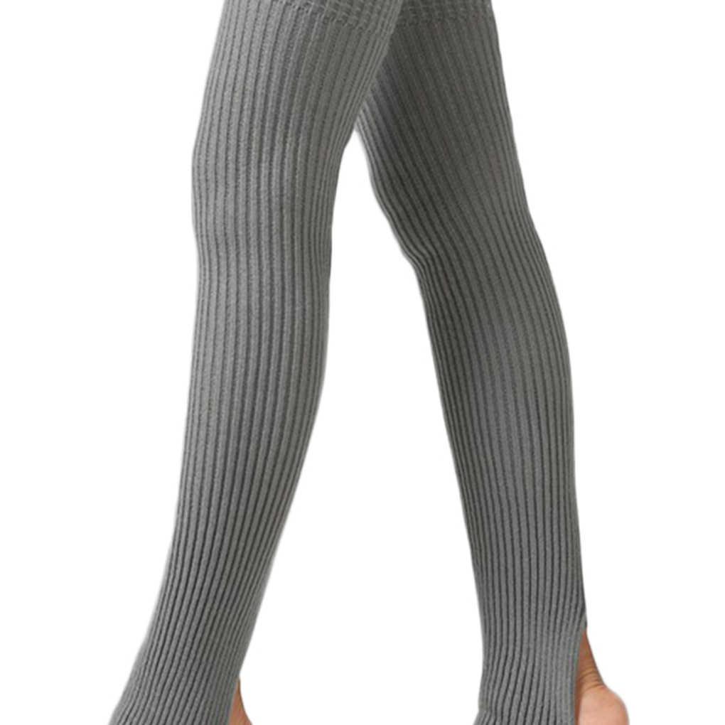 1 par mujeres niñas Otoño Invierno calentadores calcetines largos medias sin pies invierno otoño danza Ballet stock