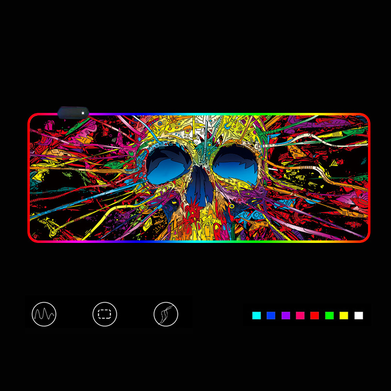 Gaming Mouse Pad RGB Mouse Pad Gamer Computer Mousepad RGB Backlit Mause Pad Large Mousepad XXL For Desk Keyboard LED Mice Mat