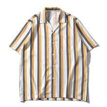 2019 Summer Beach Shirt Men Striped Vintage Shirts Retro Street Mens Leisure Short Sleeve Tops