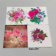 Napkins Paper Decoupage Flower Party-Decor Beautiful Wedding Butterfly Birthday Craft