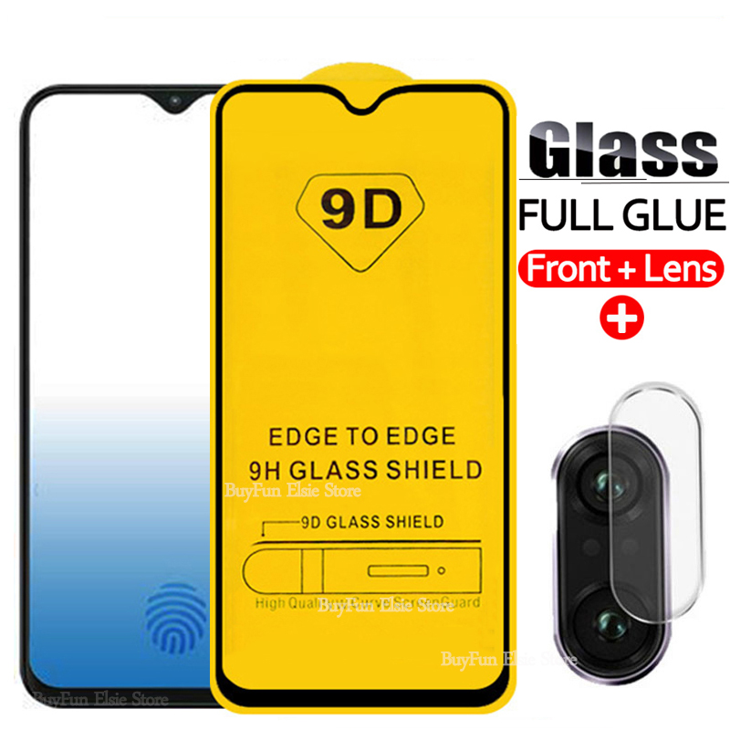 2-in-1 9D Camera Lens Tempered Glass For Samsung Galaxy A10 A20 A30 A40 A50 A10S A20S A30S A40S A50S Screen Protector Glass Film