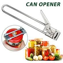 Multifuncional manual de aço inoxidável pode abridor de frasco tampa tampa abridores barra ferramenta cozinha gadgets pode abrir a máquina