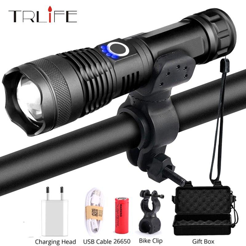 20000LM 5 Mode Tactical flashlight led Light USB Rechargeble Lamp Light Torch