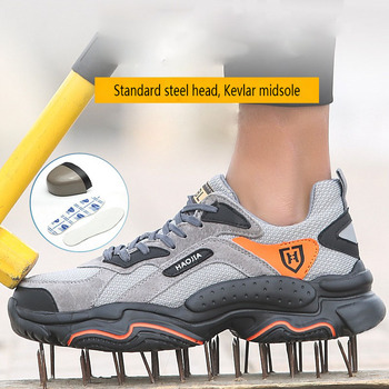 Men Steel Toe shoes industry Safety Work Shoes Lightweight Breathable anti-smashing anti-piercing Non-Slip Protective Footwear men labor insurance shoes men breathable deodorant safety work shoes steel toe caps anti smashing anti piercing site shoes 36 46