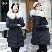 2019 Fashion Women Winter Coat Hooded Fur Collar Thicken Warm Women Down Jacket  Plus Size 3XL Black Long Parka Ladies Outerwear цены онлайн
