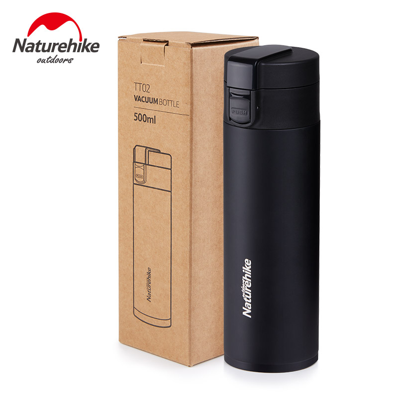 Naturehike 500ml Outdoor Stainless Steel Double Layer Vacuum Bottle Sports Bottles Camping Vacuum Flask Thermal Water Bottle