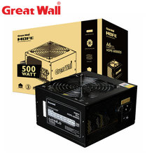 Great Wall PC Power Supply 500W Source 80Plus Bronze 12V ATX PSU Computer Power Supplies APFC 120mm Fan Power Supply Unit for PC