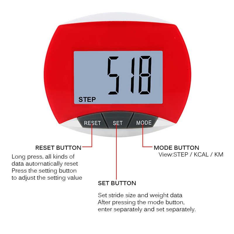 Nouvelle étape de podomètre LCD multifonction avec pince sûre marche Jogging course randonnée Distance Fitness pour la course en plein air randonnée