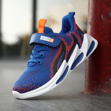 New childrens fashion autumn shoes mesh fluorescent sports casual outdoor training sneakers