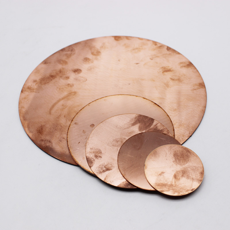 Pure 99.5% Round Copper Plate Electrode Sacrificial Anode Plating Sheet