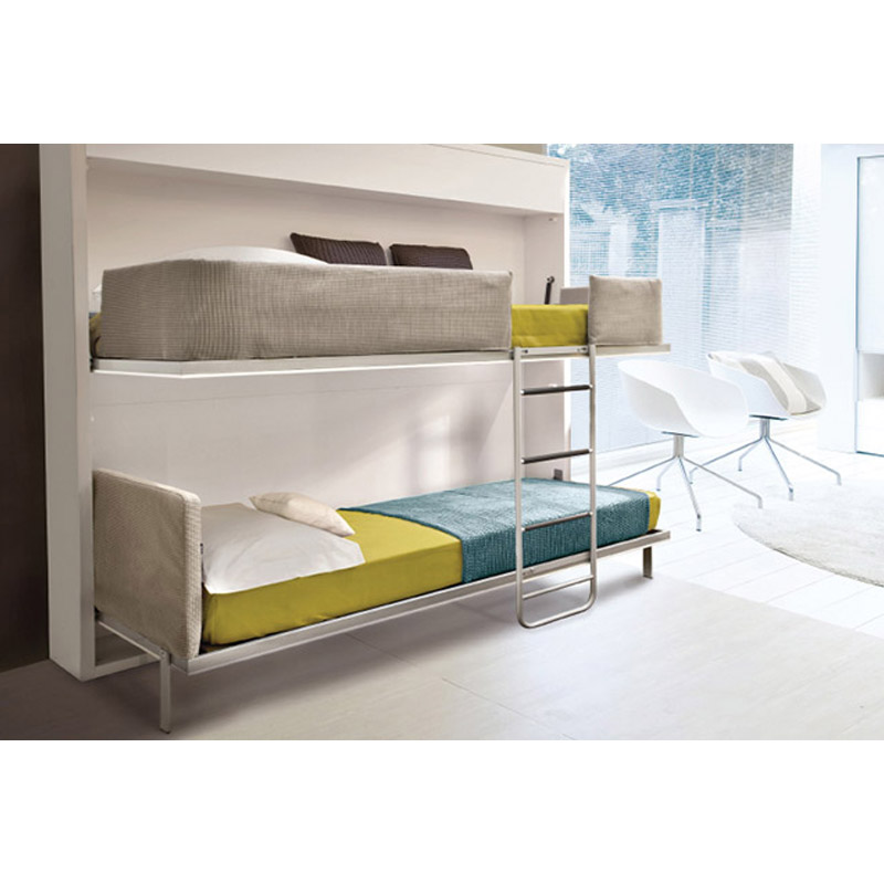 Easy Operation Wood Double Bed Designs With Box Bunk Twin Bed At