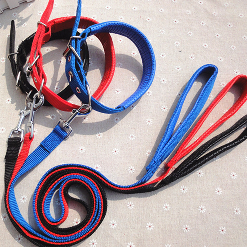 Double Layer Foam Collar-Dog Collar Pet Traction Rope Small Large Dog Hand Holding Rope Wide-2.0 Cm
