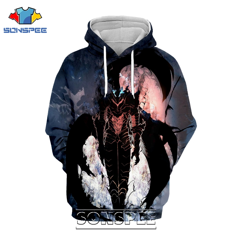 Anime Solo Leveling Hoodie SONSPEE 3D Print Men Women 2020 New Casual Streetwear Sweatshirt Harajuku Winter Coat Pullover Tops