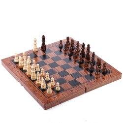 Tamanho grande 39*39cm xadrez dobrável magnético de alta qualidade de madeira impressão avançada para enviar peças de xadrez de reposição presente do dia das crianças