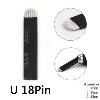 0.15mm 18U Nano blades microblading needles 50pcs Permanent Makeup Eyebrow Tattoo Needle Blade For Microblade 3D Embroidery Pen