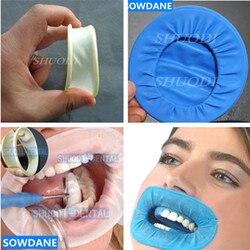 Retratores de borracha da bochecha da odontologia intraoral do látex da borracha da barragem abridor de boca completo dos dentes do cuidado da higiene oral que clareiam o material