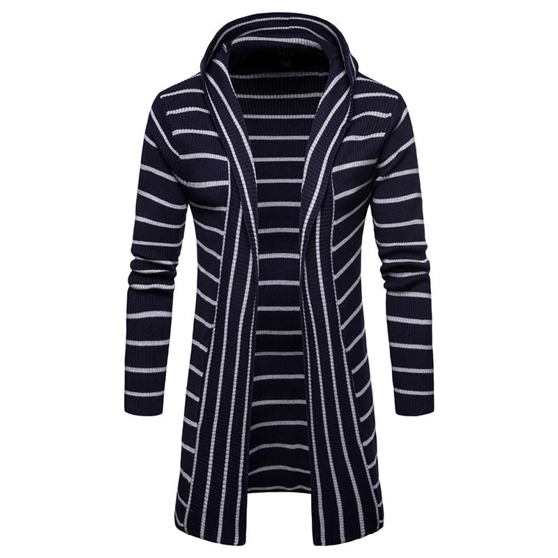 Fashion Winter Men Casual Sweater Keep Warm Knitwear Coat Slim Cardigan Men Hooded Neck Jacket Knitted Brand Male Sweaters