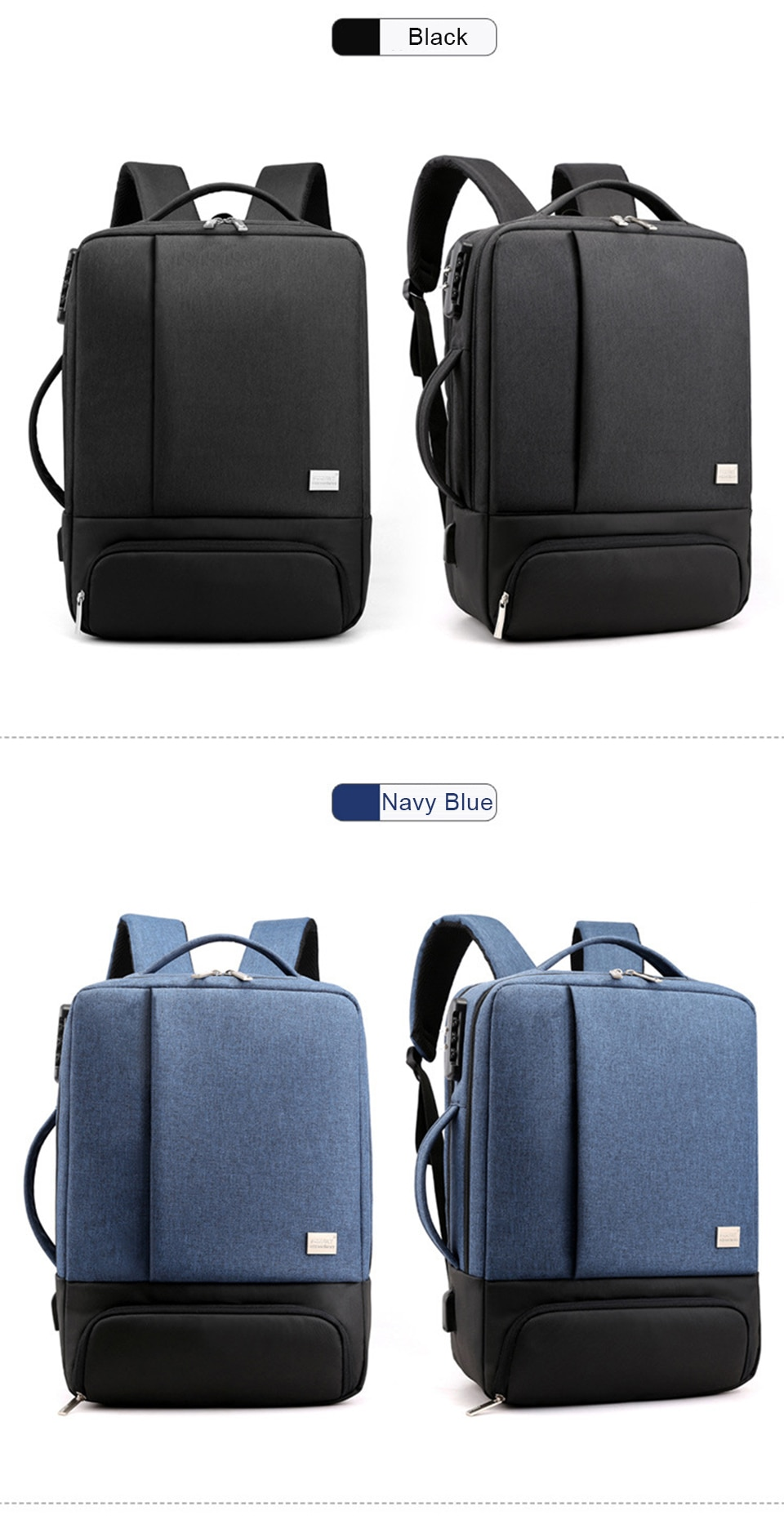 Mens Backpack Laptop Backpacks 17 Inch 15.6'' Anti Theft Male Business Bags Notebook Trip Back Pack Office Women Travel Bagpack (12)