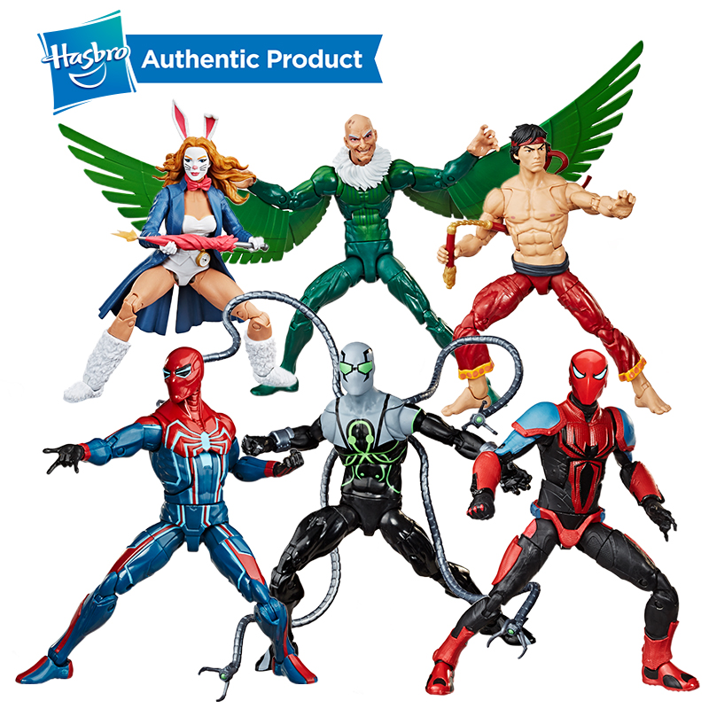 Hasbro Spider-Man Legend Doll Series MK III Armor Spider-Man Velocity Collectible Action Figure Collection For Girl And Boys