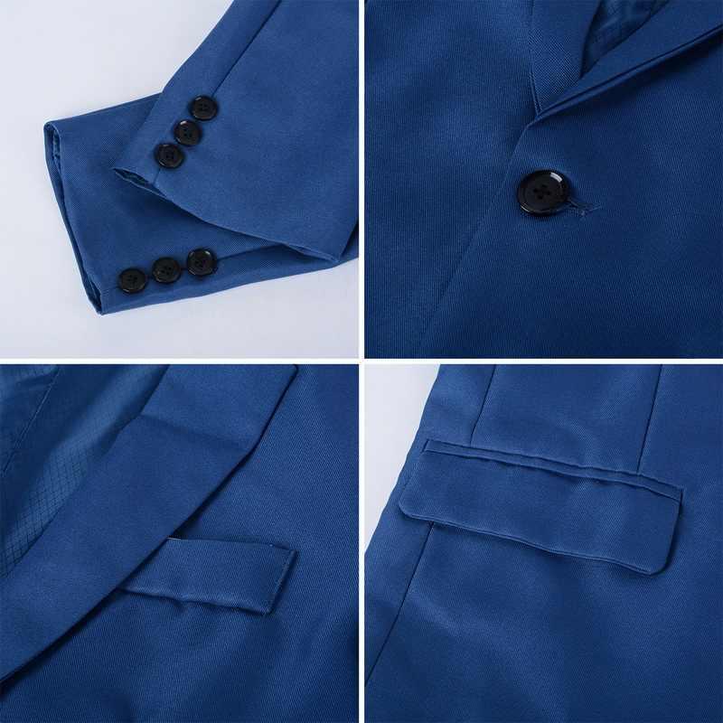 Shujin Slim Fit Sosial Blazer Musim Semi Musim Gugur Fashion Solid Mens Pernikahan Gaun Kasual Ukuran Bisnis Pria Jas