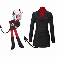 Game Helltaker the Lustful Demon Modeus Cosplay Costume Outfits for Women Men Adult JK Uniform Tail Stockings Halloween Carnival