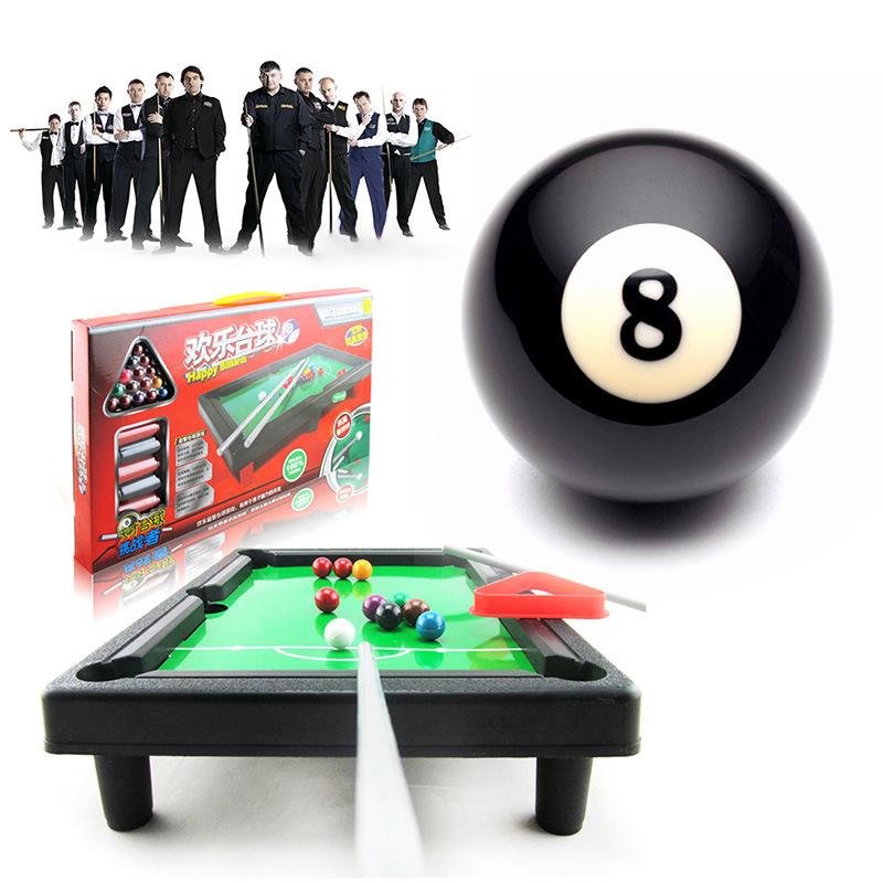 Kids Billiards Toy Lightweight Mini Tabletop Pool Table Set Snooker Game Desktop For Child Boy Gift Suitable For Outdoor Indoor