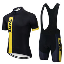 Wielertrui 2021 Pro Team Mavic Ropa Ciclismo Hombre Zomer Korte Mouw Jerseys Kleding Triathlon Bib Shorts Pak
