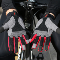 Santic Men Cycling Gloves Full Finger with Touch Function Quick Dry Windproof Shockproof for Winter MTB Bike Gloves K9M9134