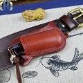 Быстрый складной набор ножей Охотник прямой нож кожаные ножны резак Защитная крышка ножа сумка ручной работы воловья кожа