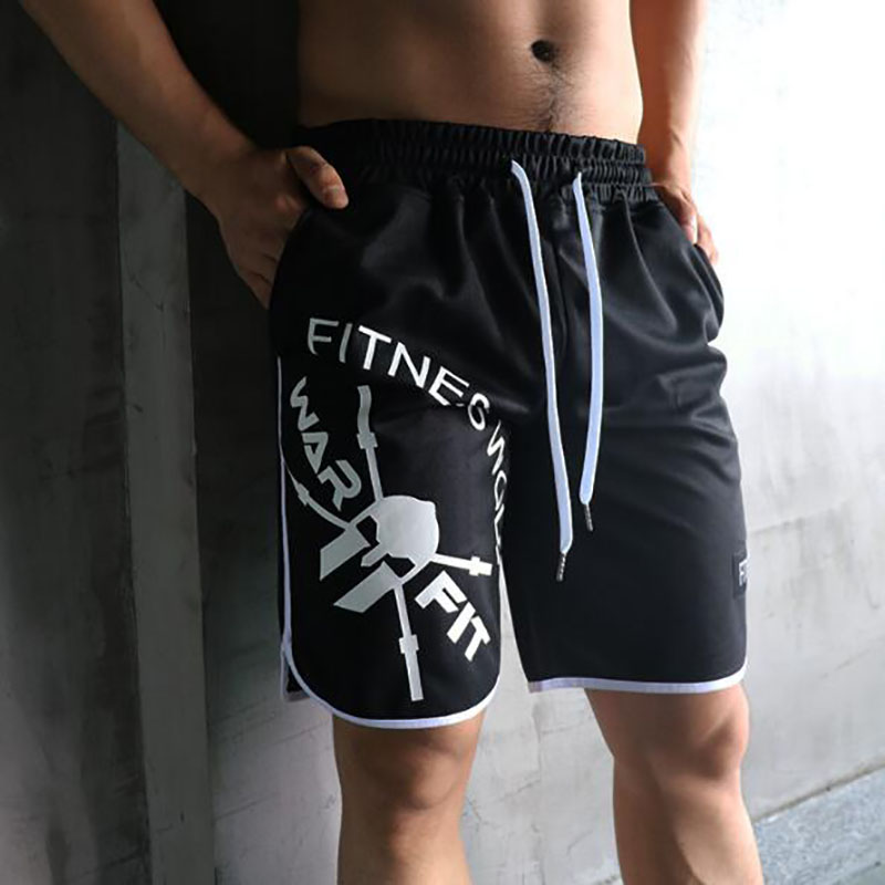 Hot DealsNew Fashion Men Sporting Beaching Shorts Trousers polyester Bodybuilding Sweatpants Fitness Short Jogger Casual Gyms Men Shorts