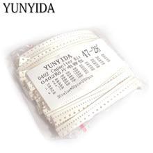 Capacitor de cerâmica smd 0402, kit sortido 1pf ~ 10uf 50 valores * 50 peças = 2500 peças chip de cerâmica capacitor amostras ki