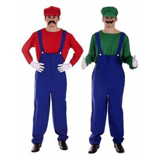 Para Hombre Para Mayores De Super Mario Bros Luigi Resistente A Fancy Disfraz De Nintendo E Instrucciones Para Hacer Vestidos