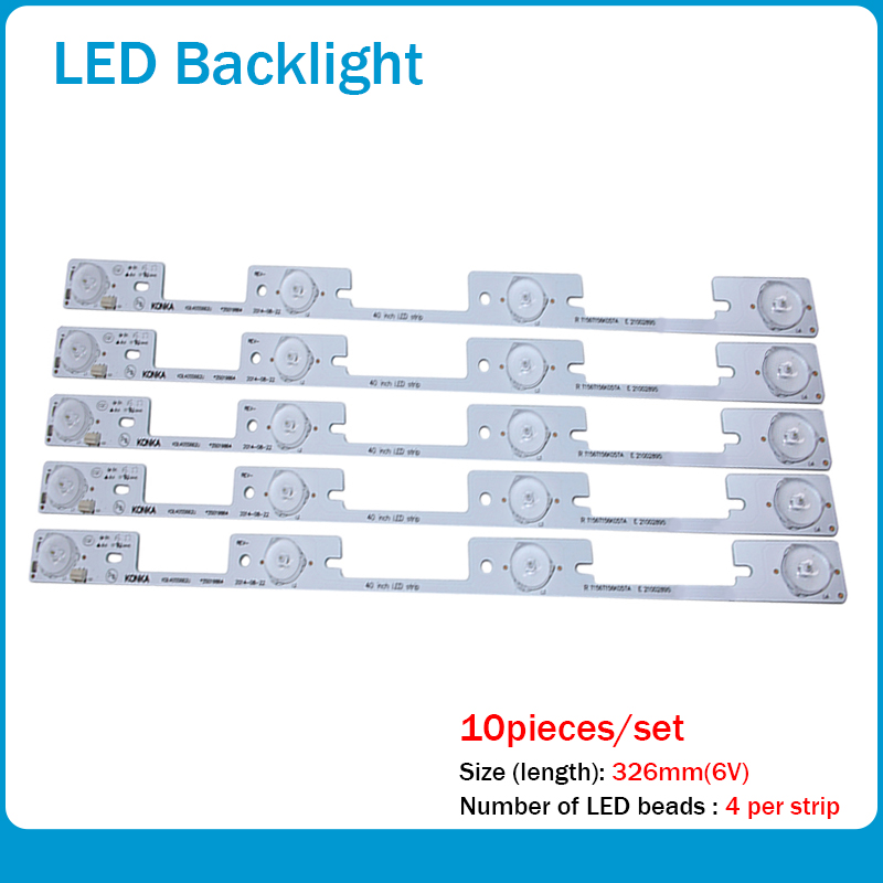 New 20 Pieces*4 LEDs*6V LED Strips Working For TV KDL39SS662U 35018339 KDL40SS662U 35019864 327mm