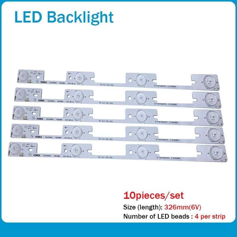 New 20 Pieces*4 LEDs*6V LED Strips Working For TV KDL39SS662U 35018339 KDL40SS662U 35019864 327mm