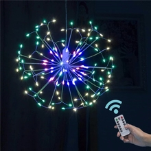 Lamp String-Lights Holiday-Lighting LED Home-Decoration Garland AA Fireworks Aa-Battery