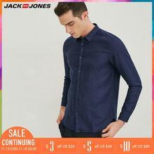 Jack & Jones Brand 2019 NEW 100% Linen slim long sleeves mal