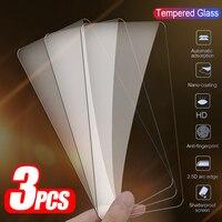 Protector de vidrio templado para Xiaomi Poco X3 Pro, funda protectora de pantalla NFC, 3 uds.