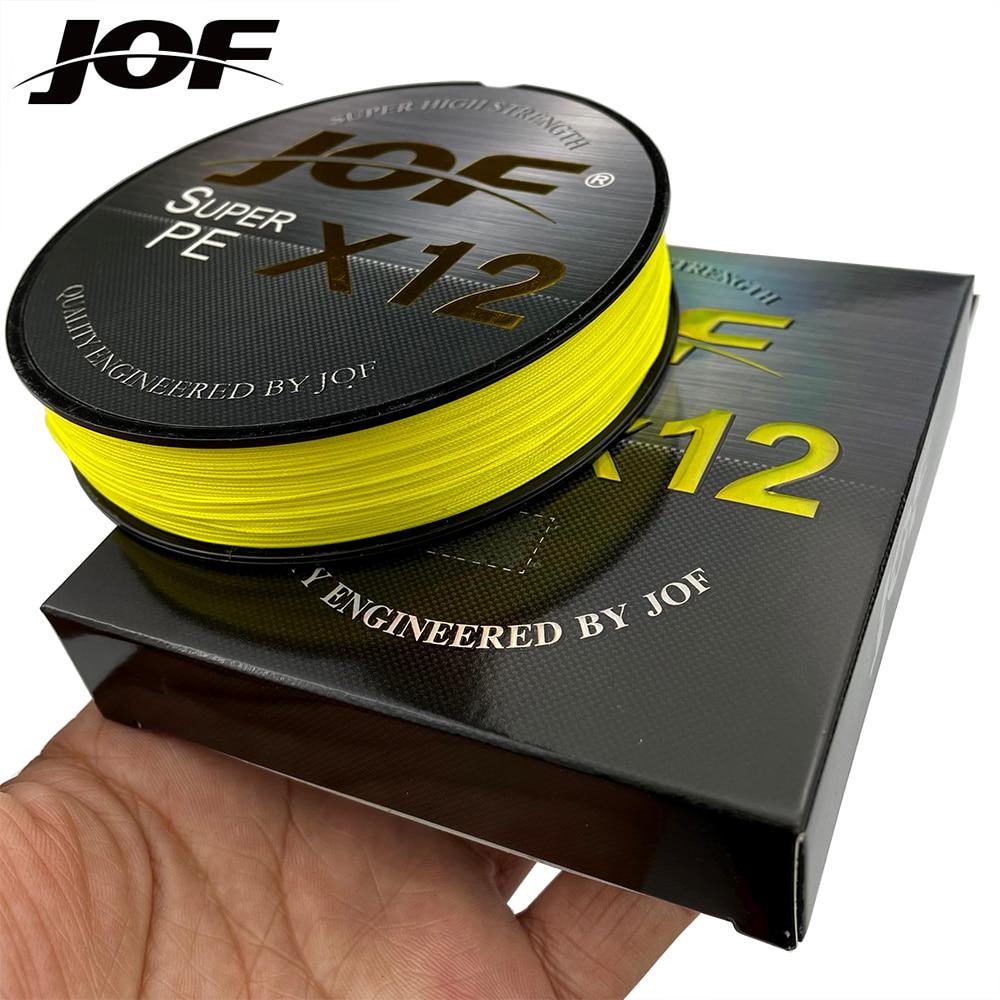 JOF 12 ipliklerini örgü PE olta 300M 500M 100M güçlü aşınma direnci Multifilament olta