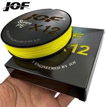 JOF-Hilo de pesca trenzado de 12 hebras, multifilamento, resistente a la abrasión, 300M, 500M, 100M