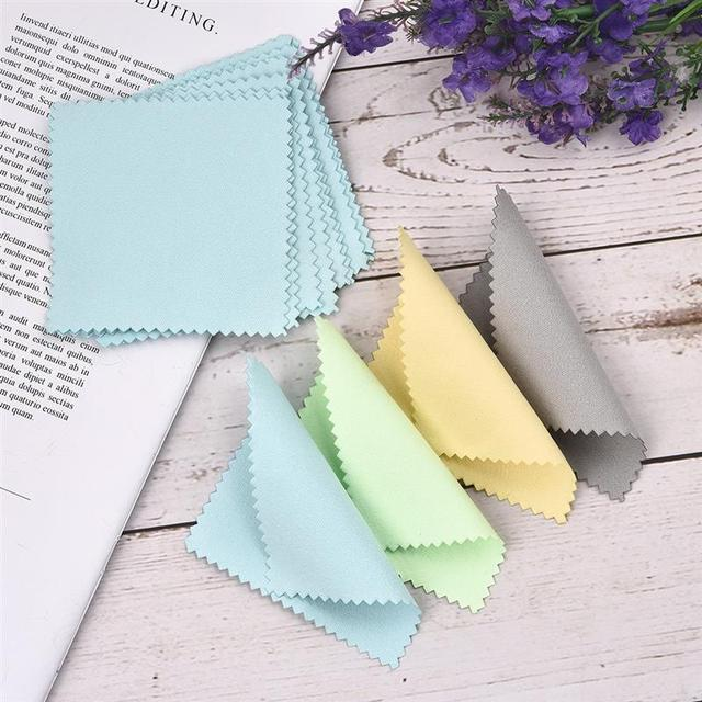 10pcs 50pcs 8x8cm Sterling Silver Color Cleaning Cloth Polishing Cloth Soft Clean Wipe Wiping Cloth Of Silver Gold Jewelry Tools 3
