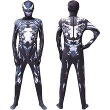 Costume d'araignée blanc pour hommes et enfants, collants de Cosplay, de couleur noire, pour adultes et bébés