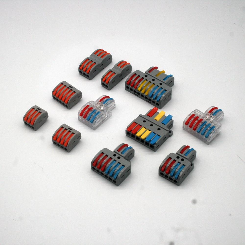 Мини быстрые Проводные кабельные разъемы Универсальный Компактный проводник пружинный Сращивание проводки соединитель нажимная Клеммная...