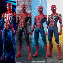 15cm Avengers super hero Spider Man PVC Action figure toys Homecoming Back to school season SpiderMan Collectible model toy gift цена 2017