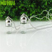 2 tamanho garrafa de vidro pingente colar perfume óleo essencial manter openable pequena garrafa colares para mulheres jóias presente b066