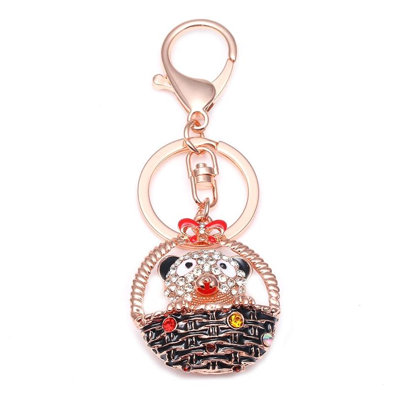 TOGORY, улыбка, мышь, опалы, кристалл, эмаль, сумочка, брелки, брелки для автомобиля, кошелек, сумка, пряжка, брелки, держатель для женщин - Color: KY15