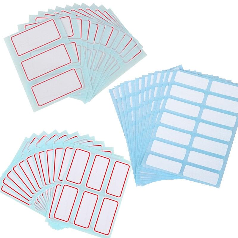 12Pcs/Package Sticker White Label Write Blank Sticker Label For Refillable Bottles Spray Bottle Travel Bottle