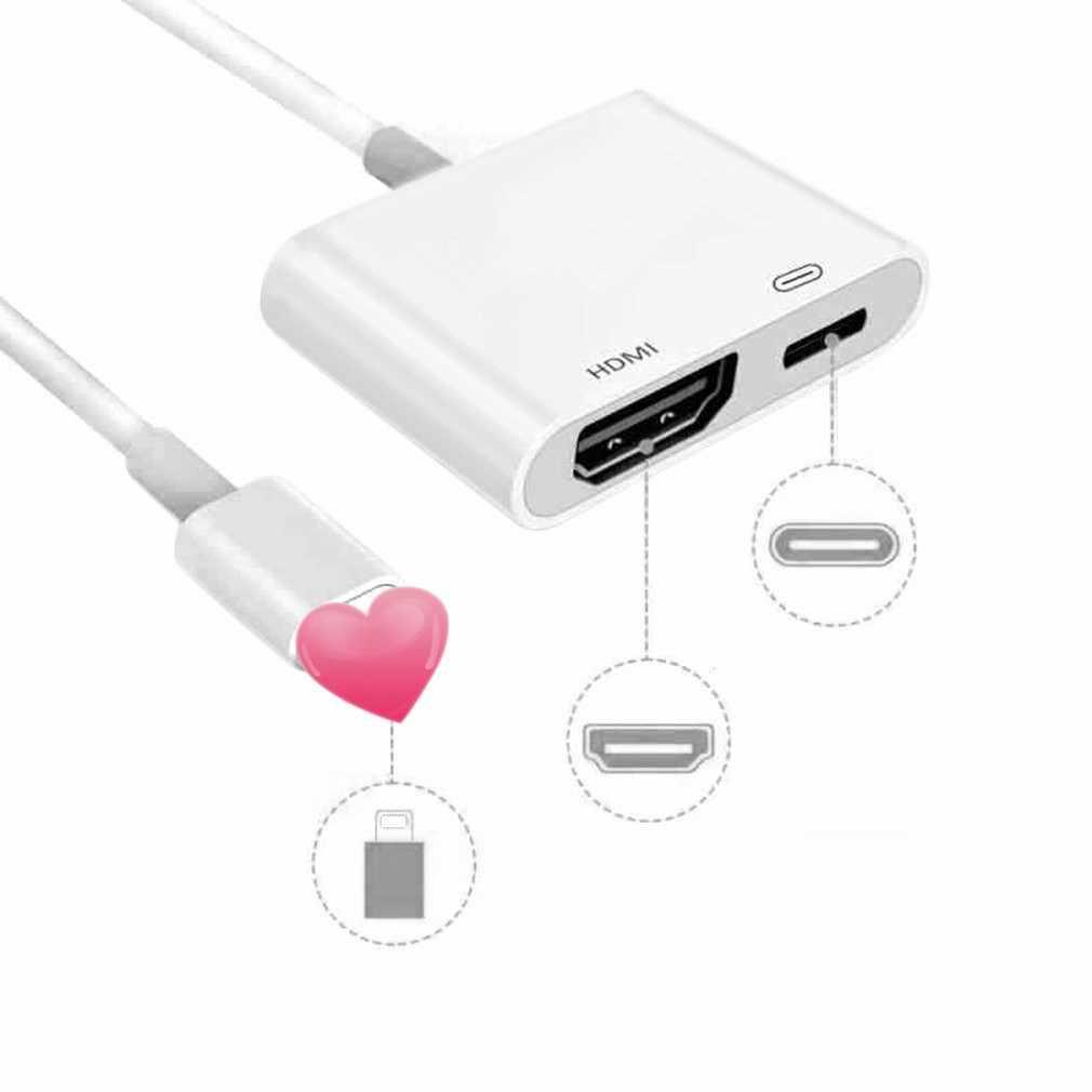 ل البرق إلى الرقمية AV HDMI 4K كابل يو اس بي لباد إلى محول HDMI موصل 1080P HD محولات ل فون X 8/7/6/باد الهواء