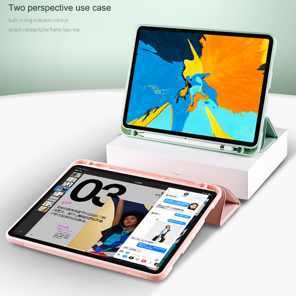 Protective Tablet Case For iPad Pro 11 Case 2020 with Pencil Holder Shockproof Stand Back Shell