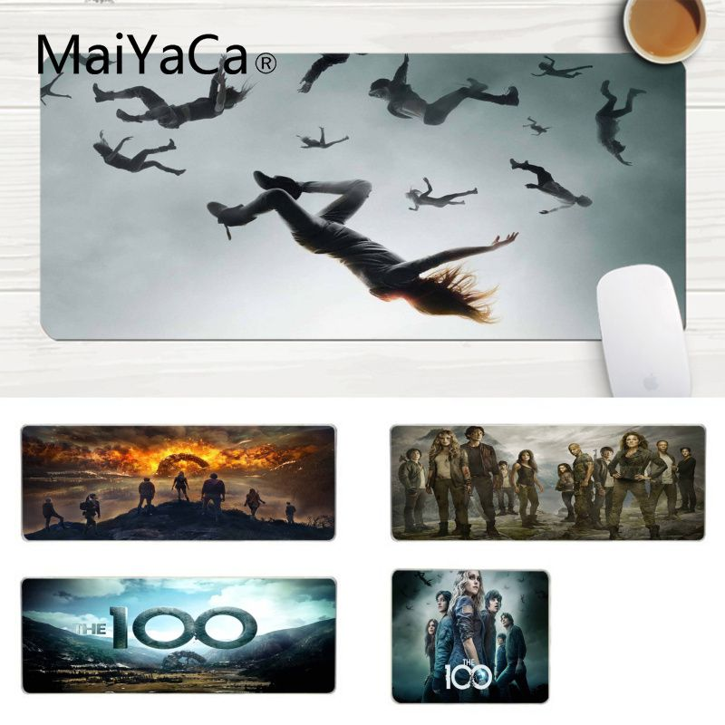 MaiYaCa New Arrivals The 100 <font><b>TV</b></font> series gamer play mats Mousepad Large Lockedge Mouse <font><b>pad</b></font> PC Computer mat Gaming Mouse <font><b>Pad</b></font> image